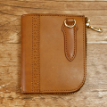 L字ファスナーミニ革財布:手作り革製品:コンパクト・ウォレット