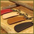 革の靴べらキーホルダー(手作り革製品)