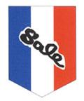 010003001 テトロンフラッグ・ベース型Sale 赤白紺 45×67