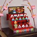【ドールハウスキット】ミニミニひな人形キット ひな人形5段飾りキット【和風】