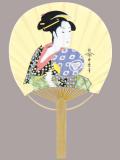 F6707 歌麿(おひさ)(ミニ竹うちわ)/25本入 竹製うちわ