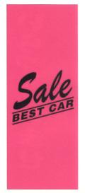 KT-14 特大のぼり(蛍光のぼり) Sale BEST CAR W900mm×H2700mm/自動車販売店向のぼり【メール便可】