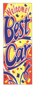 KT-5 特大のぼり BestCar W900mm×H2700mm/自動車販売店向のぼり【メール便可】