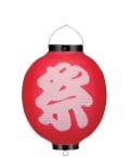 Tb345 祭(赤)/ビニール10号提灯27×38cm 10個まで【ちょうちん】