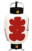 Z1069 ミニ6号弓張提灯 大入・白地赤文字18×38cm【ちょうちん】