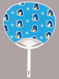 F6054 ペンギン(コンパクトファン)/50本入 ジュニアサイズうちわ
