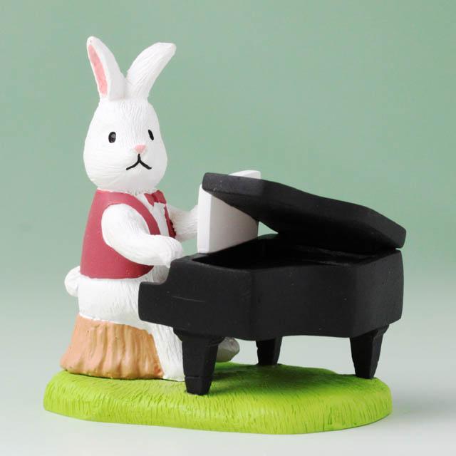 音符の森 オーナメント グランドピアノ うさぎ 音楽雑貨