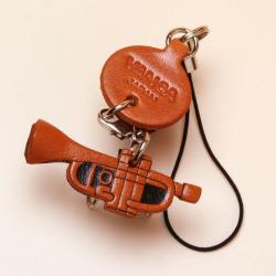 本革製携帯ストラップ トランペット trumpet 音楽雑貨 音楽小物 音楽ギフト 音楽グッズ