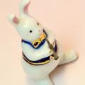 音楽雑貨 磁器 フィギュア ドリーズラビット Dolly's rabbit クラリネット うさぎ