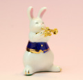 音楽雑貨 磁器 フィギュア ドリーズラビット Dolly's rabbit トランペット うさぎ