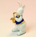 音楽雑貨 磁器 フィギュア ドリーズラビット Dolly's rabbit サックス うさぎ