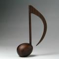 音楽雑貨 銘木 ペーパーウェイト 8分音符 ローズウッド 音楽グッズ 音楽小物 音楽ギフト