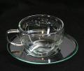 ガラスカップ&ソーサー トランペット