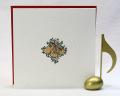 音楽雑貨 文具 クリスマス カード ヴァイオリン ギフト 楽器 楽譜 音符