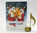 音楽雑貨 文具 クリスマス カード ブラス サンタクロース ギフト 楽器 楽譜 音符