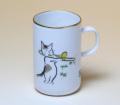 ネコのトロンボーン マグカップ 音楽雑貨 雨田光弘の描くネコの世界