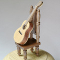 銘木オルゴール クラシックギター ナラ・ウォールナット・ニレ音楽雑貨 音楽アクセサリ ミュージックギフト