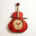 ヴァイオリン 振り子時計 銘木 音楽雑貨 音楽ギフト
