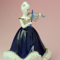 レース人形 ヴァイオリン violin Vn 楽器のオルゴール 音楽雑貨 音楽ギフト 音楽グッズ