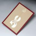 グリーティングカード ヴァイオリン 弦楽器  巧緻レーザーカット加工 文具 音楽雑貨 音楽グッズ 音楽ギフト