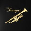 蒔絵風 携帯ステッカー トランペット Trumpet 音楽雑貨 音楽グッズ 音楽ギフト