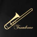 蒔絵風 携帯ステッカー トロンボーン trombone 音楽雑貨 音楽グッズ 音楽ギフト