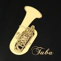 蒔絵風 携帯ステッカー チューバ tuba 音楽雑貨 音楽グッズ 音楽ギフト