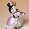 Disney ミニー ヴァイオリン オルゴール 磁器 レース人形 音楽雑貨 音楽グッズ 音楽ギフト