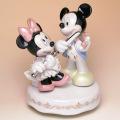 Disney ミッキー ヴァイオリン ミニー フルート オルゴール 磁器 レース人形 音楽雑貨 音楽グッズ 音楽ギフト