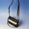 アップライト ピアノ鍵盤 ショルダーポーチ 音楽雑貨 音楽グッズ 音楽ギフト