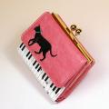 ピアノ 鍵盤 がま口 折財布 音楽雑貨 音楽グッズ