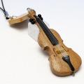 Wooden チャーム 弦楽器 チェロ 音楽雑貨