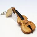 Wooden チャーム 弦楽器 コントラバス 音楽雑貨