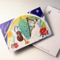 Shizuka Karasawa 絵葉書 チェロ ハープ 音楽雑貨