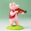 音符の森 オーナメント ヴァイオリン ぶた 音楽雑貨