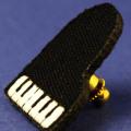 ワッペン 刺繍タイタックピン グランドピアノ 音楽グッズ 音楽雑貨