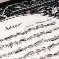バッハ,無伴奏ヴァイオリンのためのソナタ第1番,Adagio,ハンカチ,音楽雑貨