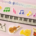 アソート・マスキングテープ&シール 楽譜 鍵盤 楽器