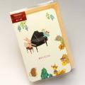 多目的カード ピアノ 音楽雑貨