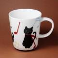 黒猫 音符 音楽グッズ 音楽雑貨