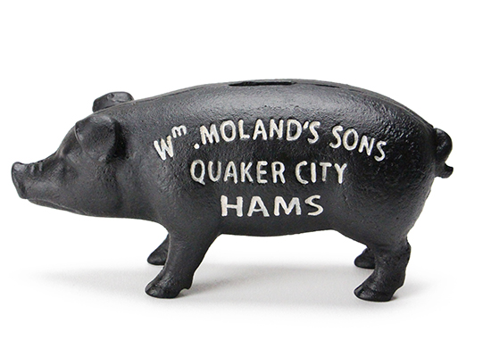 Hams Standing Pig Bank BLACK