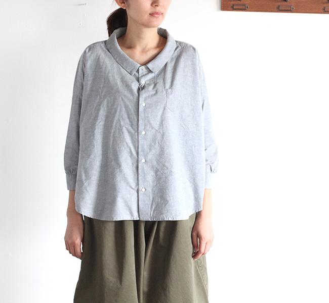 ordinary fits オーディナリーフィッツ レディース  BARBER SHIRT kapok mix バーバーシャツ カポック