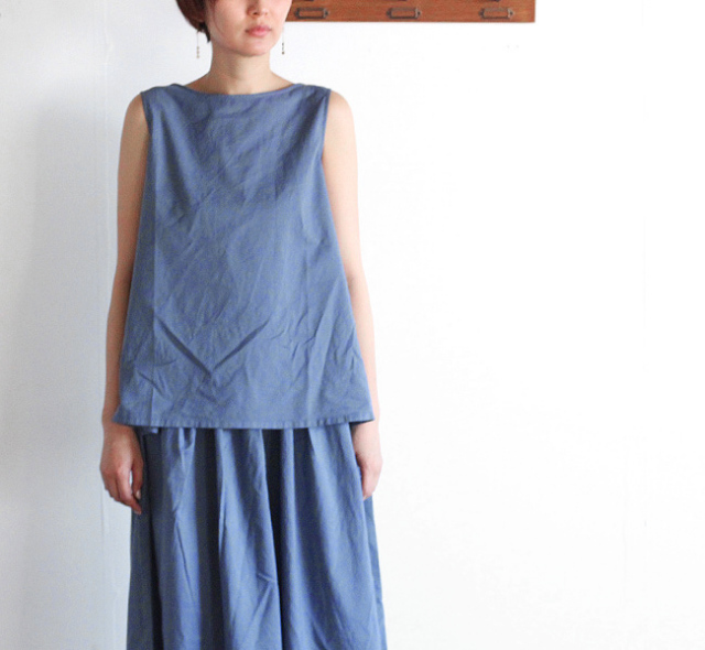 evam eva  エヴァムエヴァ cotton sleeveless pullover
