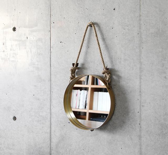 """Wall Rope Mirror """"Round""""ウォールロープミラー """"ラウンド"""""""