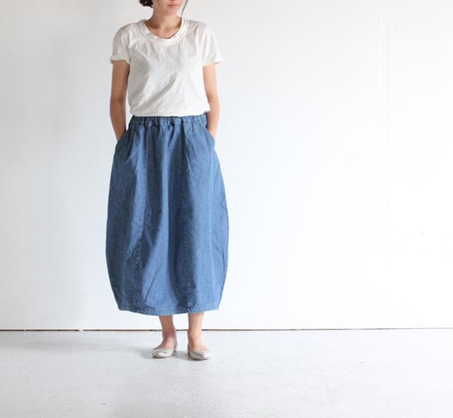 ordinary fits/オーディナリーフィッツ レディース TSUBOMI DENIM ツボミ スカートデニム