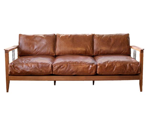 a. depeche アデペシュ Mnol 3seat sofa camel oil leather ムノル 3シート ソファ キャメル オイル レザー