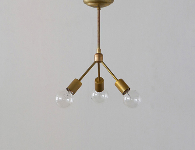 ACME FURNITURE アクメファニチャー SOLID BRASS LAMP 3ARM 45 ソリッドブラスランプ3アーム45