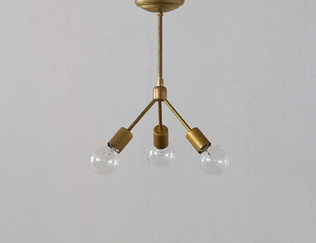 ACME FURNITURE アクメファニチャー SOLID BRASS LAMP 3ARM 45 ソリッドブラスランプ3アーム45