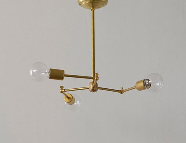 ACME FURNITURE アクメファニチャー SOLID BRASS LAMP 3ARM ソリッドブラスランプ3アーム