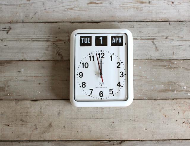 Twemco Radio Control Calendar Clock #RC-12A  トゥエンコラジオコントロールカレンダークロック #RC-12A